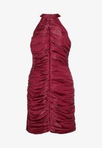 Missguided - RUCHED HALTER BODYCON MINI DRESS - Vestido de cóctel - red - 4