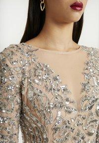 Missguided - EMBELLISHED ROUND NECK MINI DRESS - Vestito elegante - silver - 5