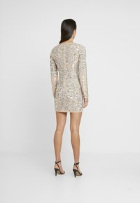 Missguided - EMBELLISHED ROUND NECK MINI DRESS - Vestito elegante - silver - 2