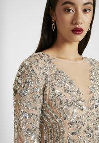Missguided - EMBELLISHED ROUND NECK MINI DRESS - Vestito elegante - silver - 3