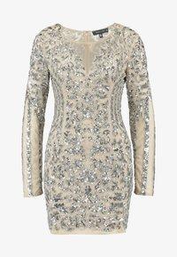 Missguided - EMBELLISHED ROUND NECK MINI DRESS - Vestito elegante - silver - 4
