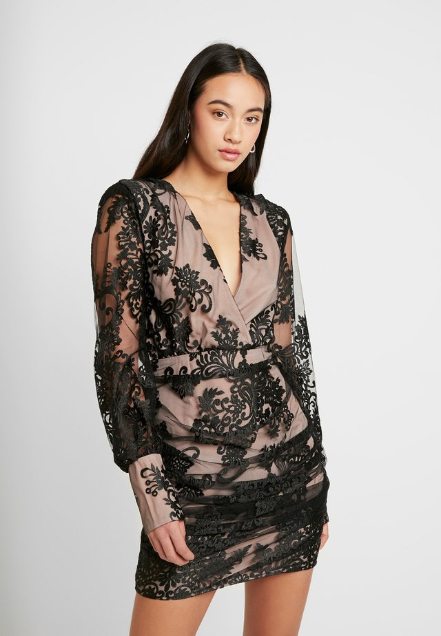 WRAP MINI DRESS - Cocktailkleid/festliches Kleid - black