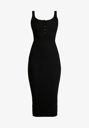 POPPER DRESS - Strikkjoler - black