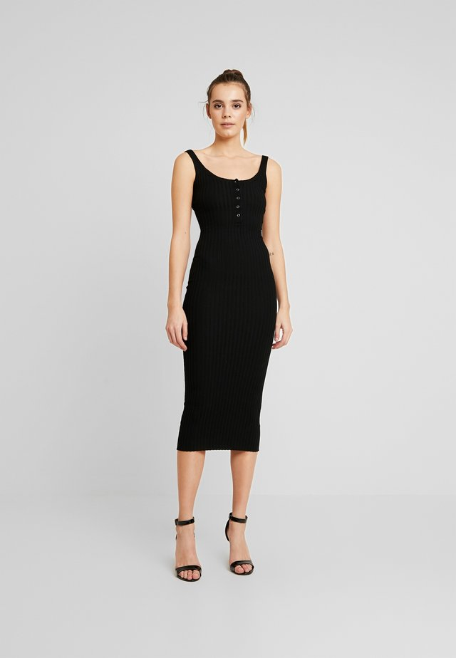 POPPER DRESS - Jumper dress - black