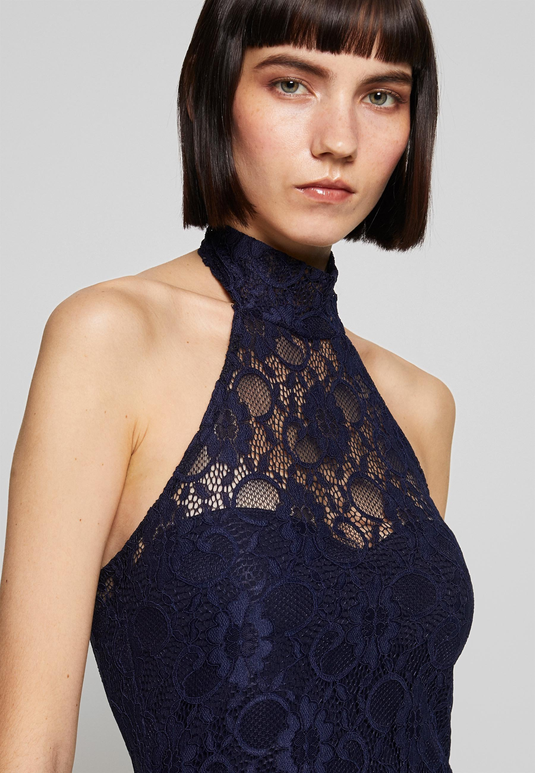 Missguided DIP MIDI DRESS BRIDESMAID - Sukienka z dżerseju - navy