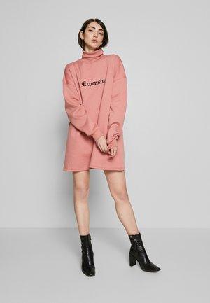 HIGH NECK DRESS EXPENSIVE - Korte jurk - blush