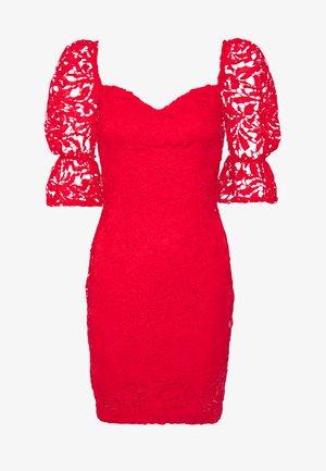 SQUARE NECK BODYCON MINI DRESS - Sukienka koktajlowa - red