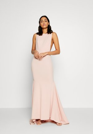 BRIDESMAID SLEEVELESS LOW BACK DRESS - Galajurk - pink