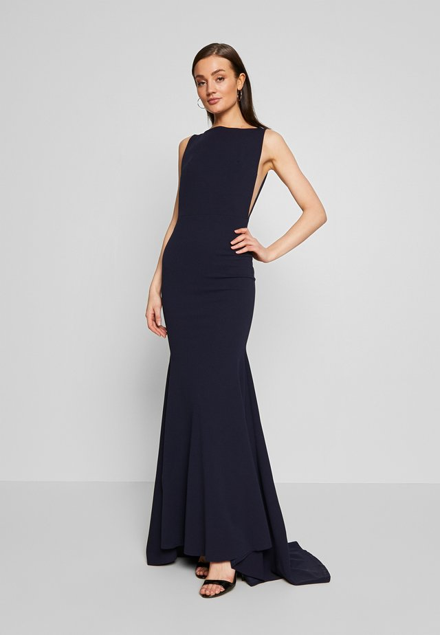 BRIDESMAID SLEEVELESS LOW BACK DRESS - Occasion wear - navy