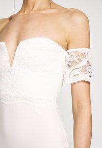 Missguided - BRIDAL LACE  PLUNGE FISHTAIL MAXI DRESS - Iltapuku - ivory - 5