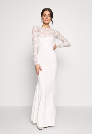 BRIDAL OPEN BACK FISHTAIL MAXI DRESS - Robe de cocktail - ivory