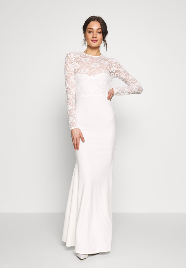 BRIDAL OPEN BACK FISHTAIL MAXI DRESS - Galajurk - ivory