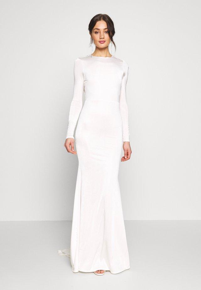 BRIDAL SLINKY COWL BACK FISHTAIL MAXI DRESS - Occasion wear - ivory