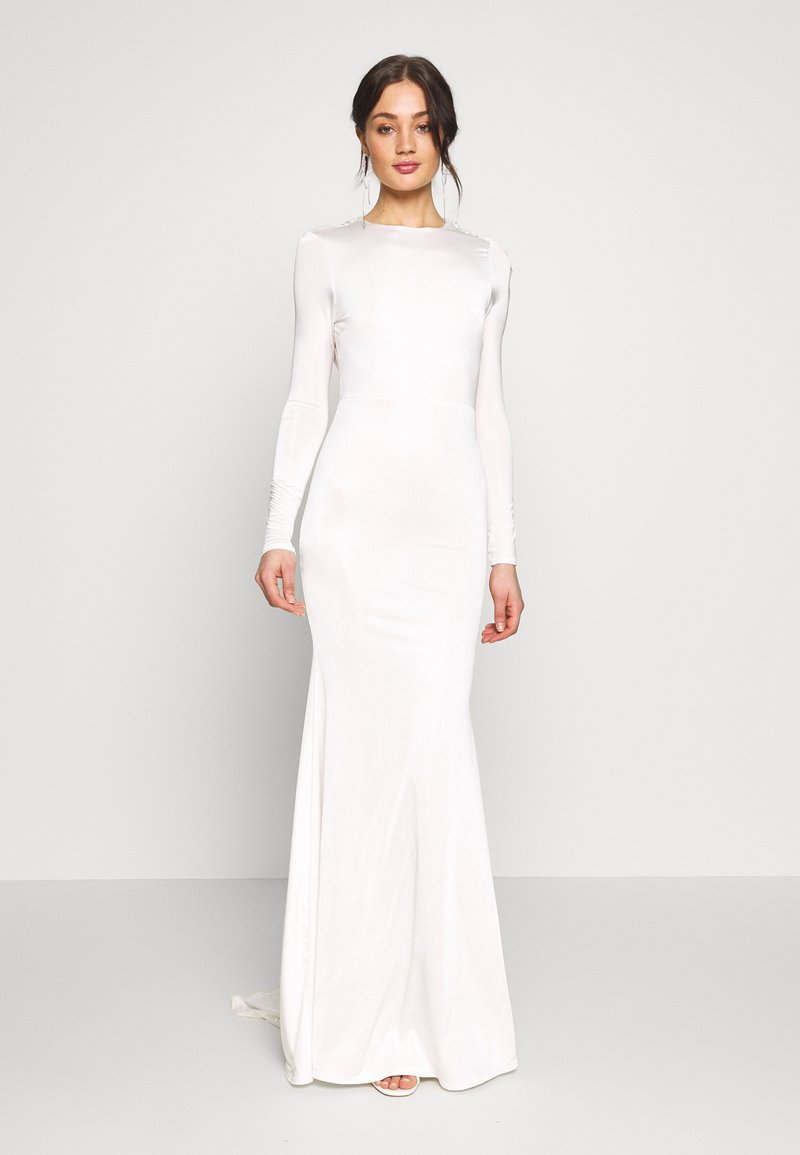 Missguided - BRIDAL SLINKY COWL BACK FISHTAIL MAXI DRESS - Robe de cocktail - ivory
