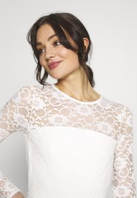 Missguided - BRIDAL AND BRIDESMAID LACE OPENBACK JUMPSUIT - Combinaison - ivory - 3