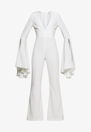 PLUNGE FLARE SLEEVE  - Overall / Jumpsuit - white