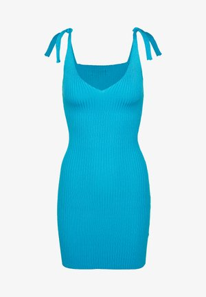 TIE SHOULDER CAMI MINI DRESS - Day dress - blue