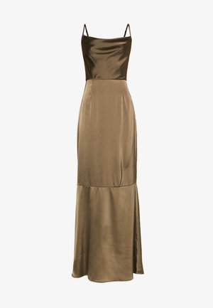 COWL NECK DRESS - Occasion wear - khaki