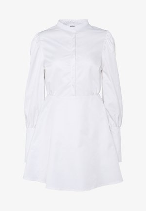 PUFF SLEEVE EMBELLISHED CUFF SMOCK DRESS - Cocktail dress / Party dress - white