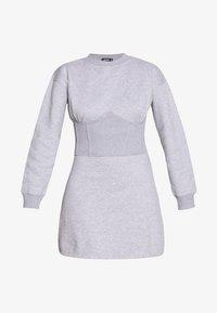 Missguided - OVERSIZED CORSET DRESS - Robe d'été - grey marl - 3