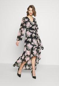 Missguided - HIGH LOW BALLOON MIDI DRESS FLORAL - Maxi dress - black - 1