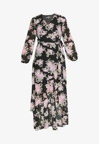 Missguided - HIGH LOW BALLOON MIDI DRESS FLORAL - Maxi dress - black - 3