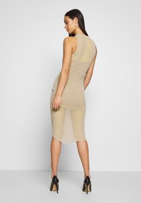 Missguided - RUCHED MIDI DRESS - Etuikjole - mocha - 2
