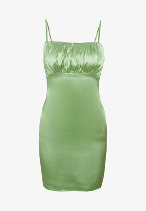 RUCHED BUST MIDI DRESS - Vestido de cóctel - pale green