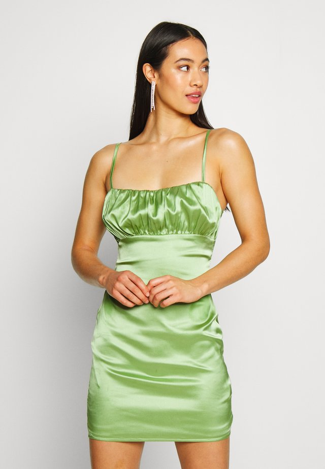 RUCHED BUST MIDI DRESS - Cocktail dress / Party dress - pale green