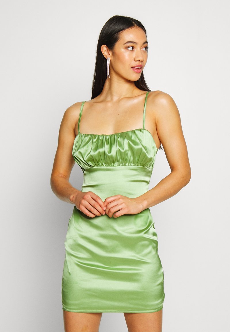 Missguided - RUCHED BUST MIDI DRESS - Cocktail dress / Party dress - pale green