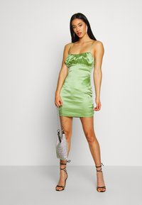Missguided - RUCHED BUST MIDI DRESS - Cocktail dress / Party dress - pale green - 1