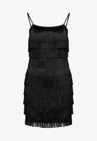 Missguided - FESTIVAL EXCLUSIVE TASSEL STRAPPY BACK MINI DRESS - Vestito elegante - black - 0