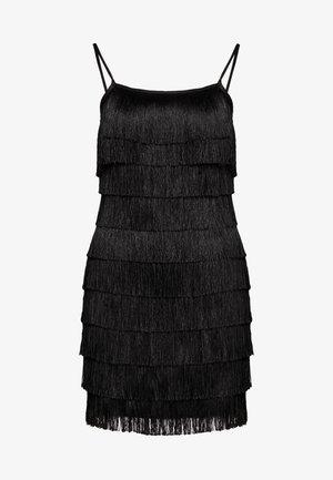 FESTIVAL EXCLUSIVE TASSEL STRAPPY BACK MINI DRESS - Vestito elegante - black