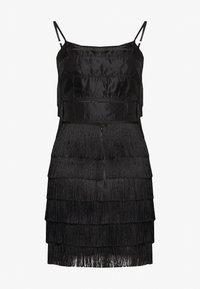 Missguided - FESTIVAL EXCLUSIVE TASSEL STRAPPY BACK MINI DRESS - Vestito elegante - black - 1