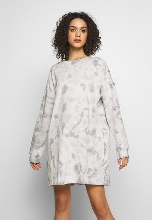 TIE DYE DRESS - Korte jurk - cream
