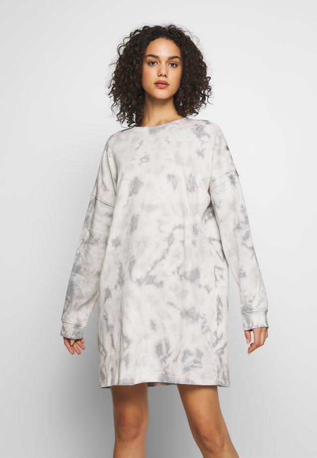 TIE DYE DRESS - Korte jurk - cream