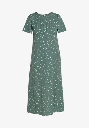FLUTTER MIDI DRESS POLKA - Korte jurk - green