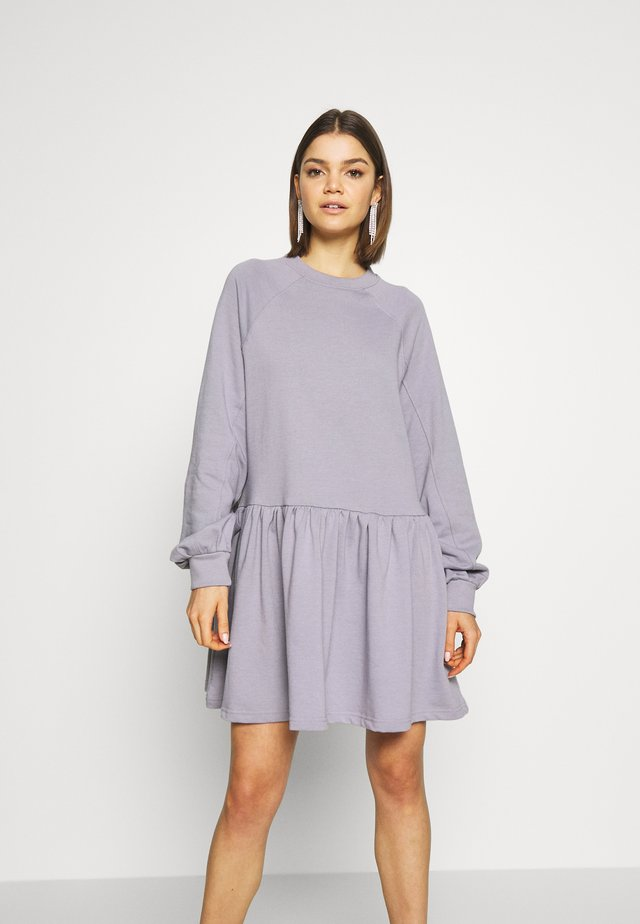OVERSIZED SMOCK DRESS - Day dress - lilac