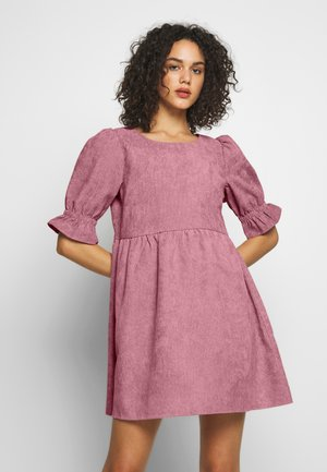 OVERSIZED SMOCK DRESS FRILL SLEEVE - Day dress - blush
