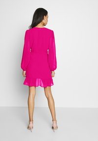Missguided - DOBBY RUCHED DETAIL FRILL MINI DRESS - Vestido informal - pink - 2
