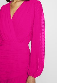 Missguided - DOBBY RUCHED DETAIL FRILL MINI DRESS - Vestido informal - pink - 5