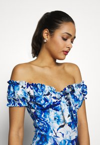 Missguided - FLORAL MILKMAID BODYCON MINI DRESS - Etuikjole - blue - 4
