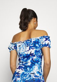 Missguided - FLORAL MILKMAID BODYCON MINI DRESS - Etuikjole - blue - 6