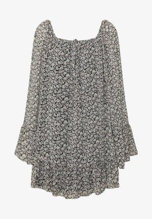 FLARED SLEEVE DRESS FLORAL - Denní šaty - black