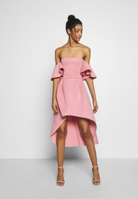 Missguided - BARDOT HIGH LOW MIDI DRESS - Vestido de cóctel - blush - 1