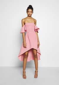 Missguided - BARDOT HIGH LOW MIDI DRESS - Vestido de cóctel - blush - 0