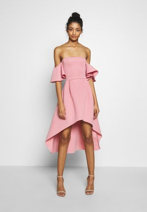 BARDOT HIGH LOW MIDI DRESS - Koktejlové šaty / šaty na párty - blush