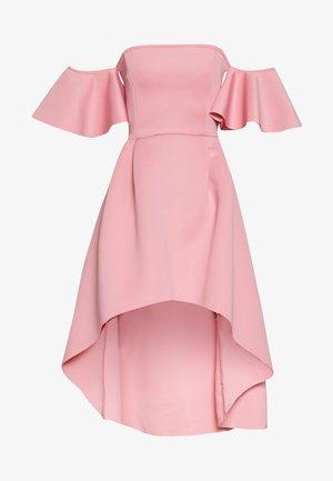 BARDOT HIGH LOW MIDI DRESS - Cocktailkjole - blush