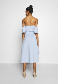 Missguided - BARDOT HIGH LOW MIDI DRESS - Vestido de cóctel - powder blue - 2