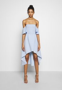 Missguided - BARDOT HIGH LOW MIDI DRESS - Vestido de cóctel - powder blue - 0
